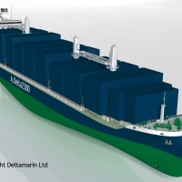 2,300 TEU container feeder concept by Deltamarin