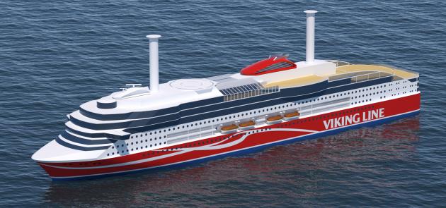 Viking Line ro-pax vessel at Xiamen shipyard