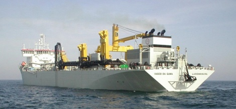 Special vessels Vasco da Gama - hopper suction dredger vessel