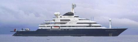 Mega yacht 126 m