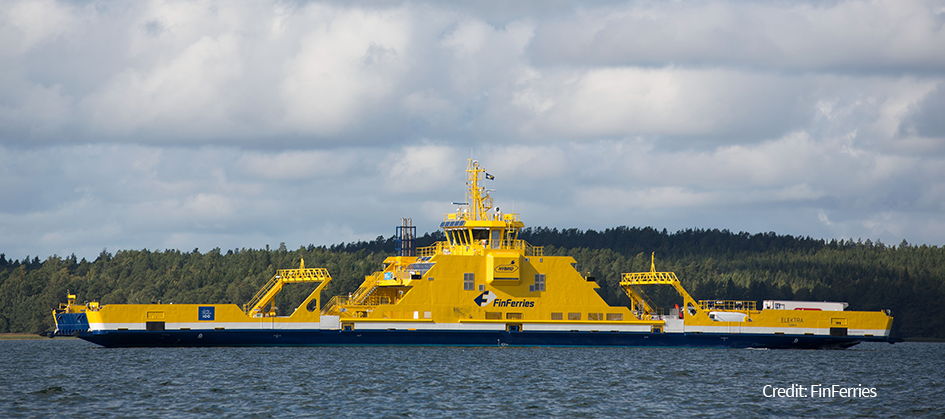 Elektra hybrid road ferry - Finferries