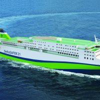 DeltaSAFER - ro-pax ferry for the Asian markets (copyright Deltamarin)