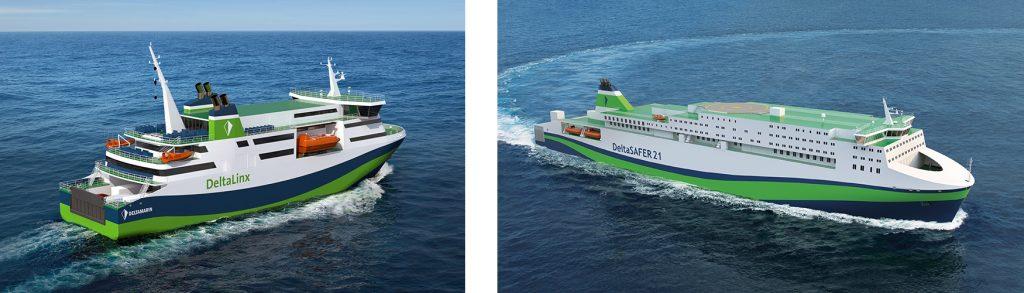 DeltaLinx and DeltaSAFER ferry designs by Deltamarin