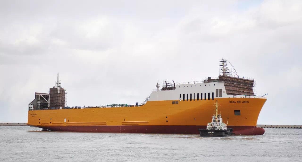 """Ro-ro vessel by Deltamarin China, Visentini's """"Rosa dei Venti"""""""