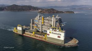 Johan Sverdrup process platform was transported from the yard in Korea to Norway by Boka Vanguard (offshore)