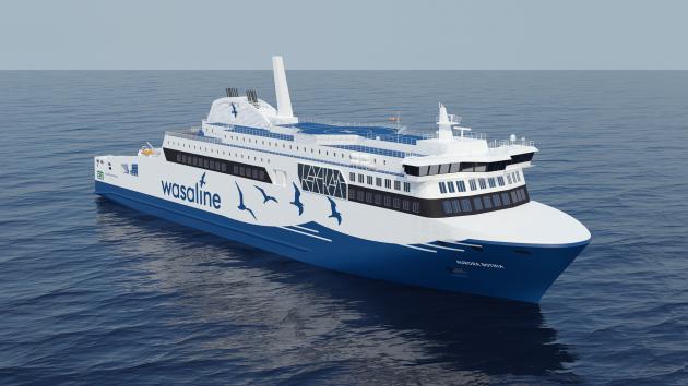 Aurora Botnia LNG-fuelled ferry - credit Kvarken Link