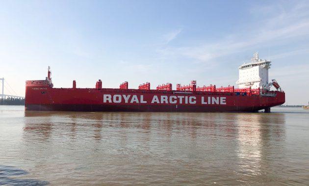 Tukuma Arctica container ship - credit Royal Arctic Line