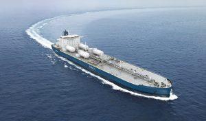 Shipping decarbonisation - Aframax tanker - credit Deltamarin