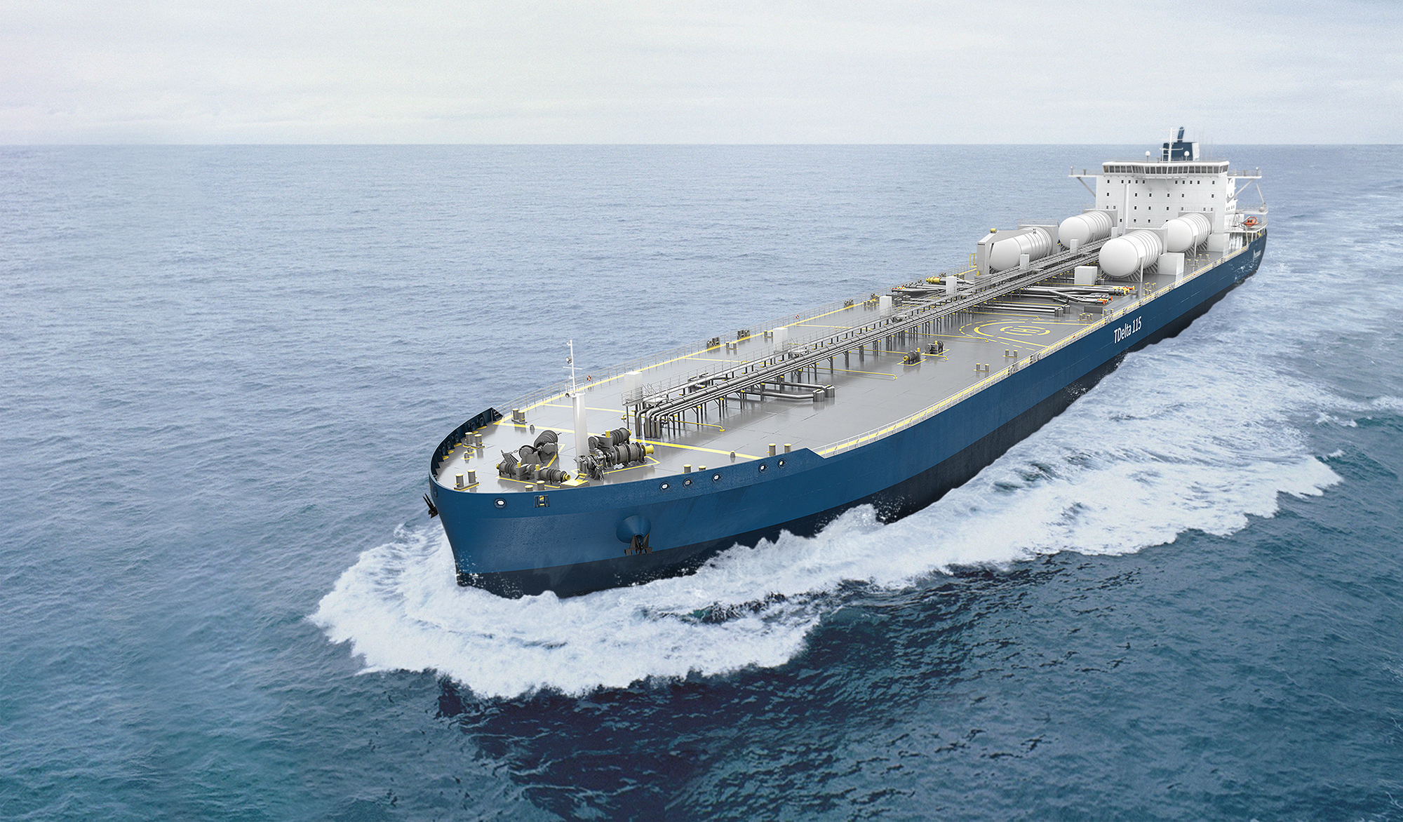Aframax tanker - credit Deltamarin