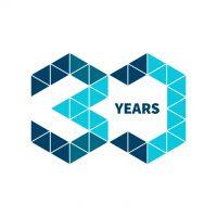 Deltamarin's 30th anniversary logo