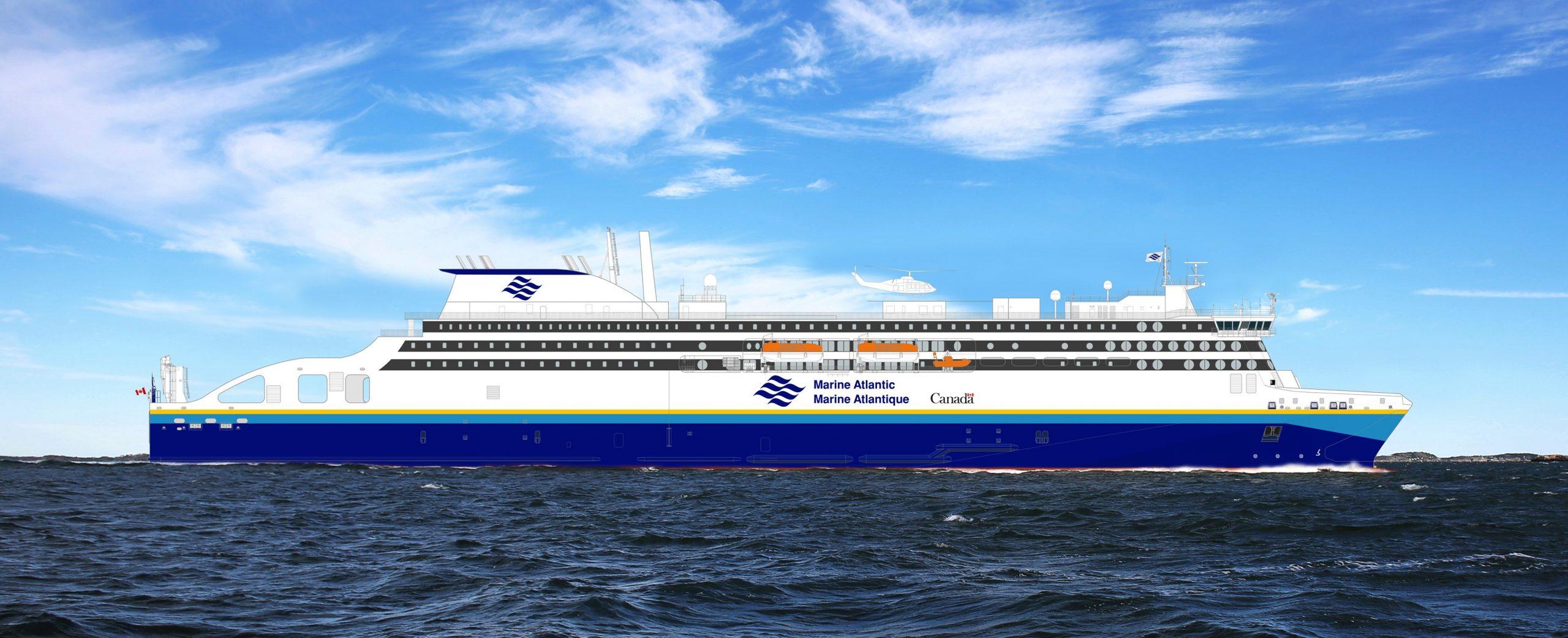 Stena RoRo's E-Flexer for Marine Atlantic (credit Stena RoRo)