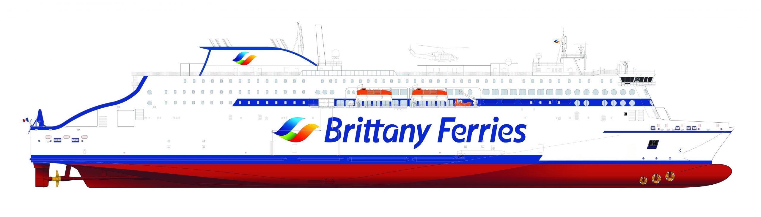 Stena RoRo's E-Flexer for Brittany Ferries (credit Stena RoRo)